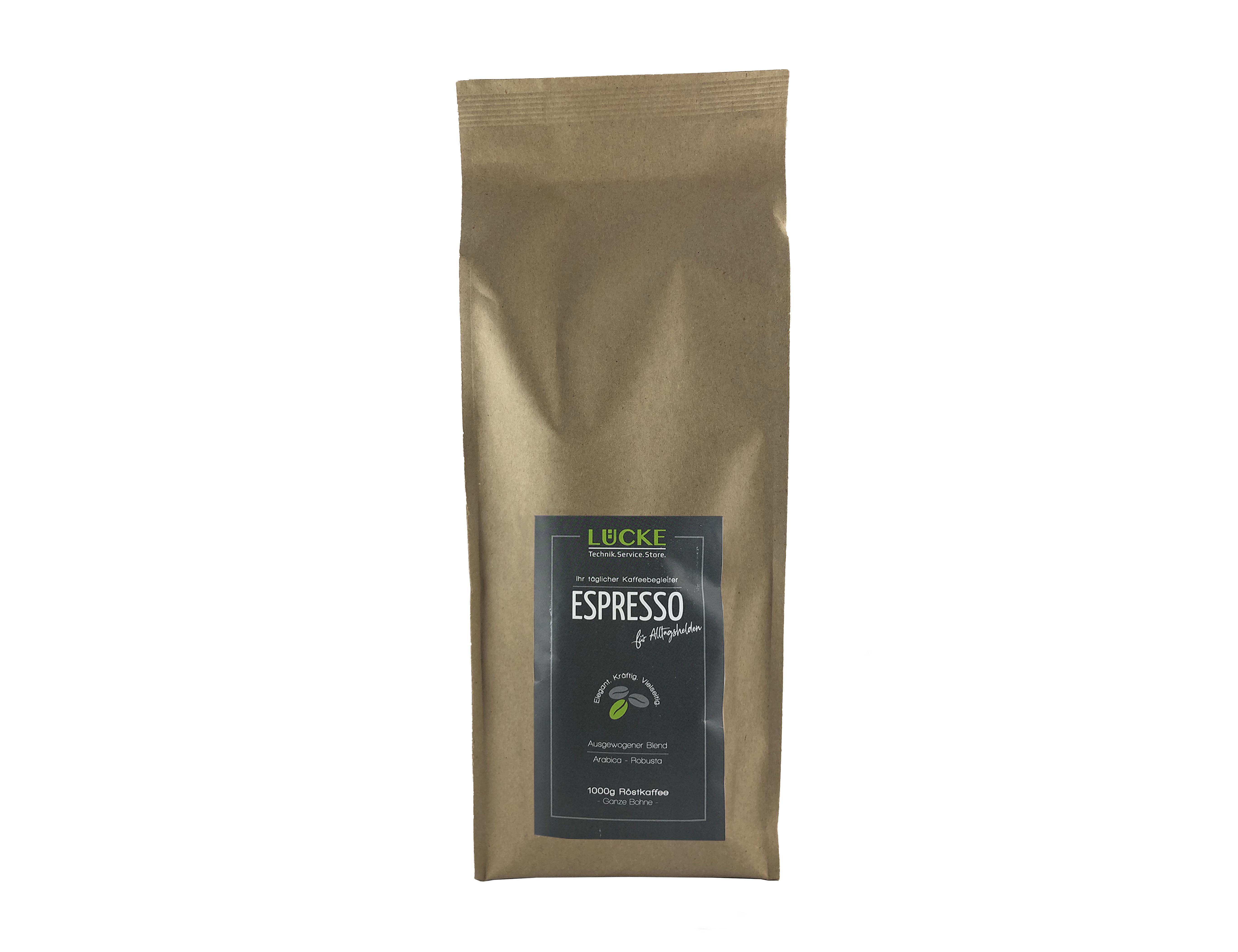 Lücke-Technik 1000g - Espresso für Alltagshelden