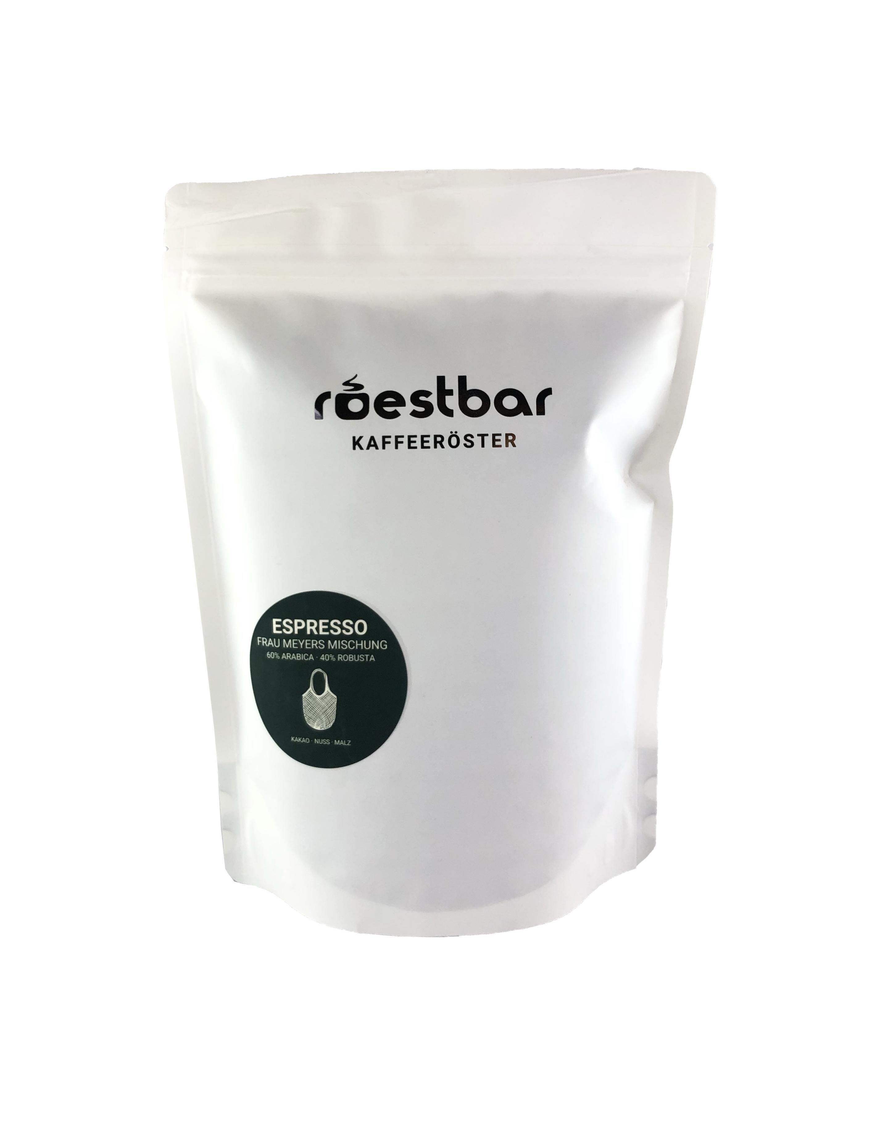 roestbar 500g Espresso Frau Meyers Mischung (grün)
