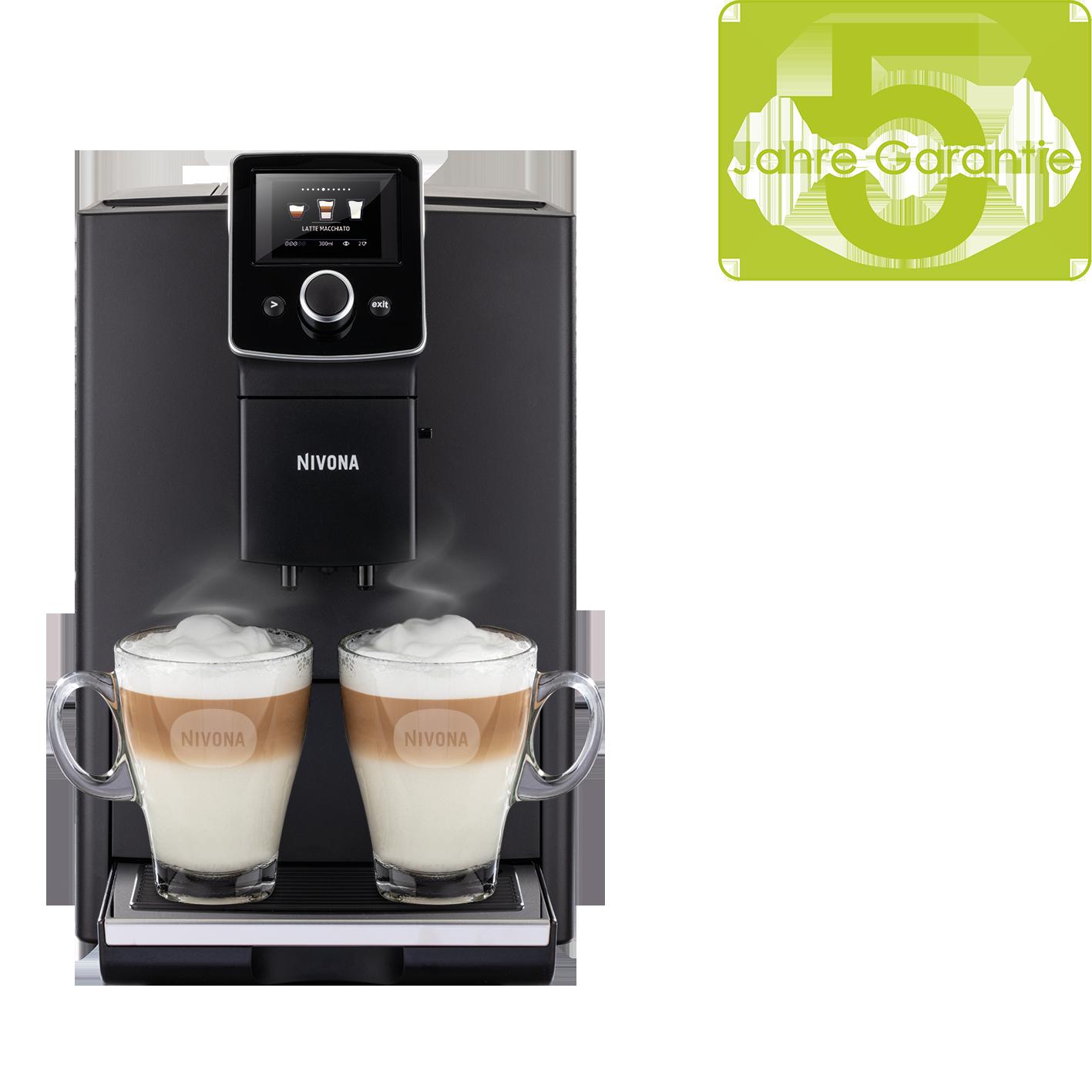 Nivona CafeRomatica 820, Mattschwarz / Chrom