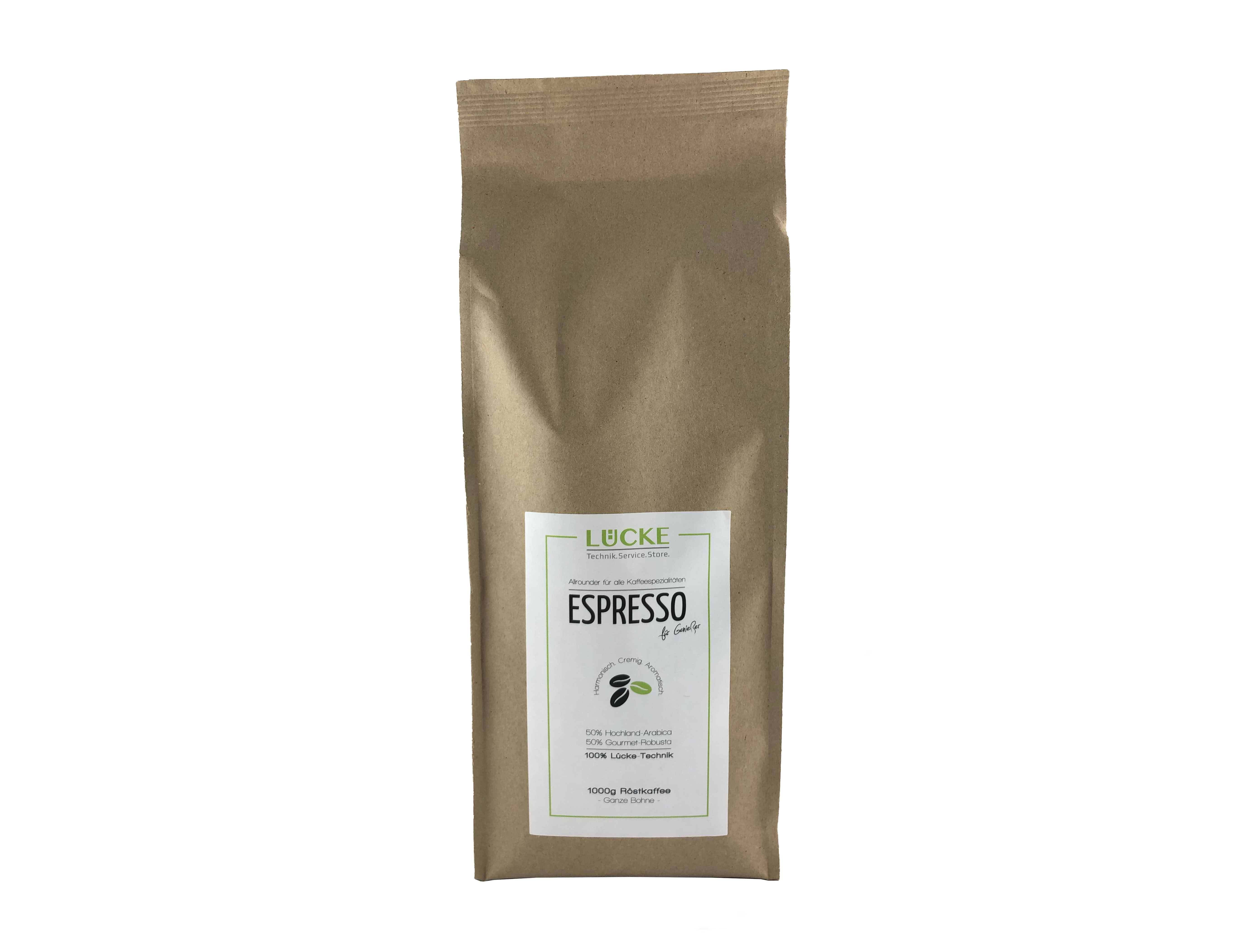 Lücke-Technik 1000g - Espresso für Genießer