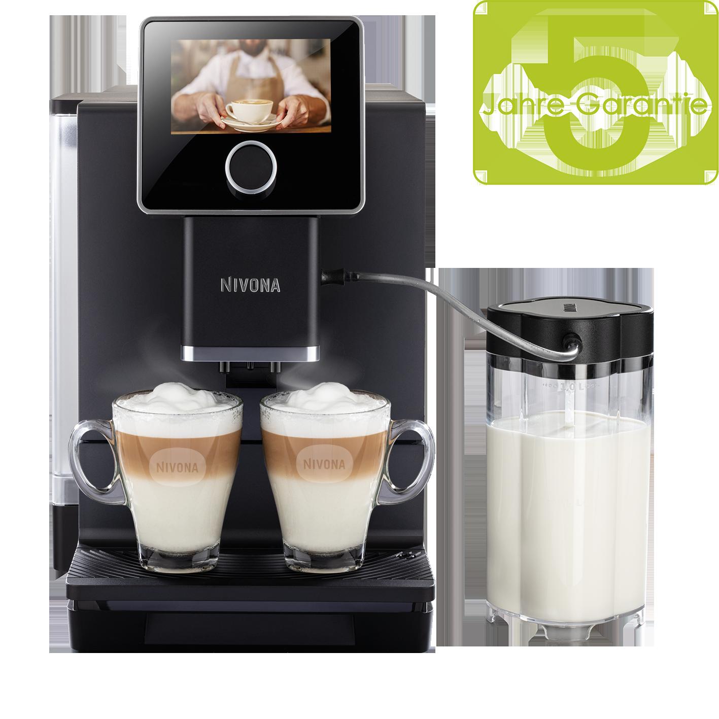 Nivona CafeRomatica 960, Mattschwarz/Chrom